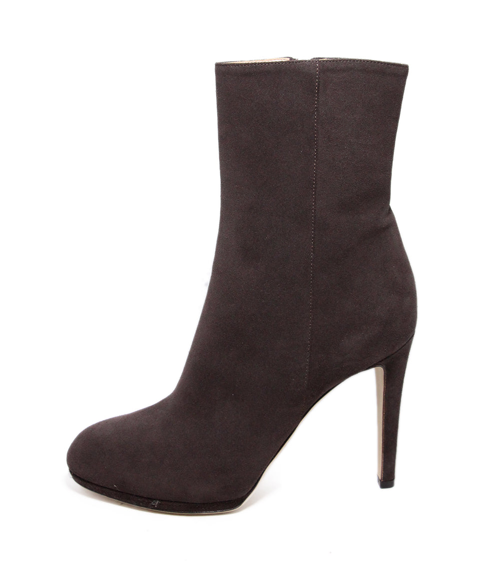 Sergio rossi brown coffee suede Booties 2