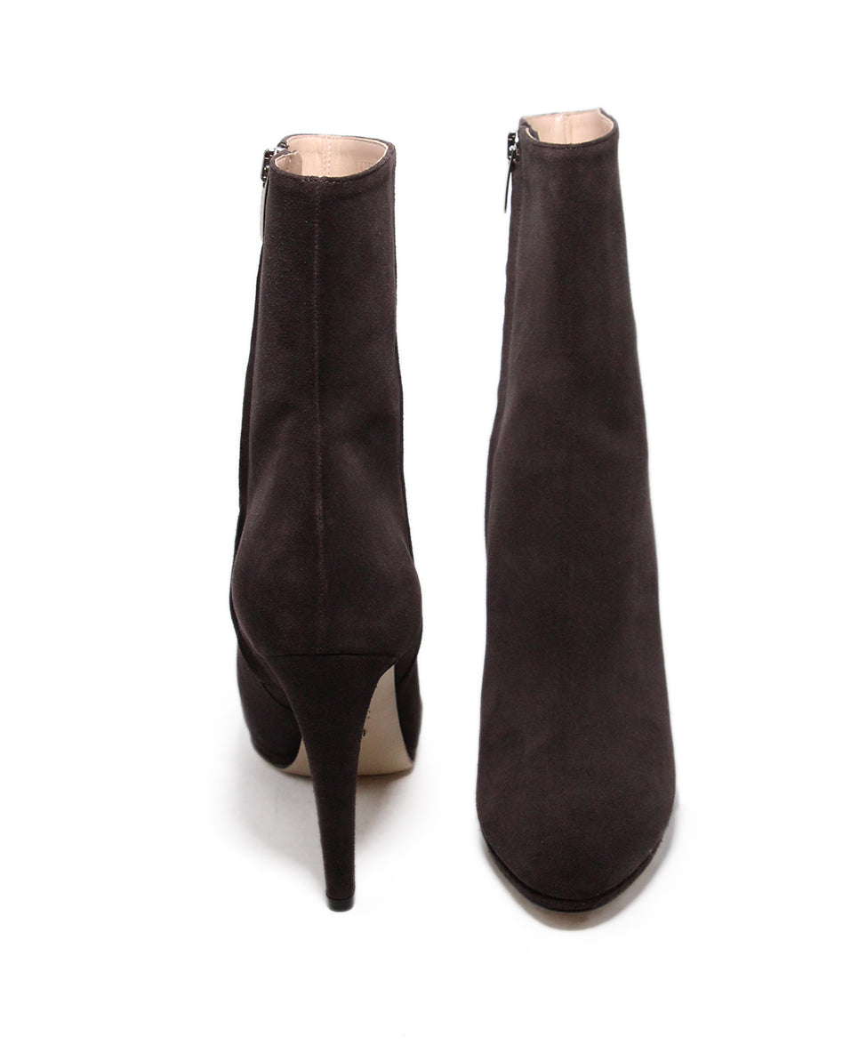 Sergio rossi brown coffee suede Booties 3