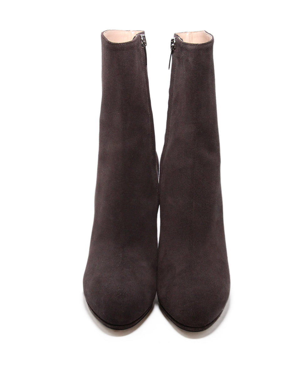 Sergio rossi brown coffee suede Booties 4