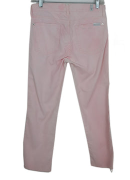 Seven For All Manking Light Pink Distressed Denim Pants 1