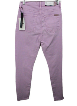Seven Purple Lilac Cotton Pants 2