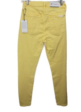 Seven Yellow Cotton Pants 2