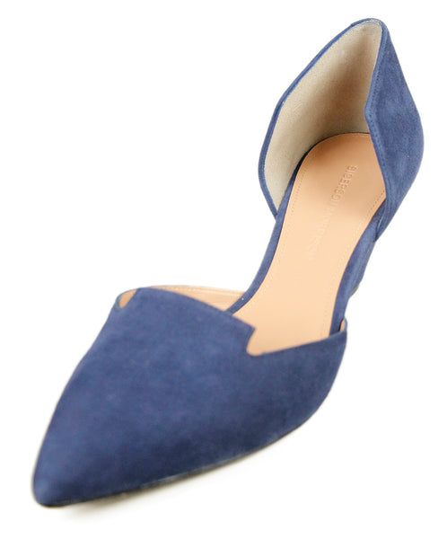 Sigerson Morrison Blue Suede Shoes Sz 38