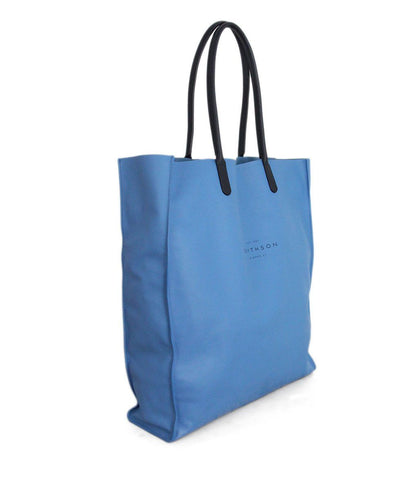 Smythson Blue leather Tote 1
