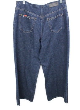 Sonia Rykiel Blue Denim Studs Trim Pants 2