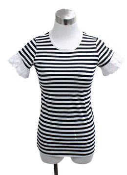 Sonia Rykiel Black White Stripes Cotton Top