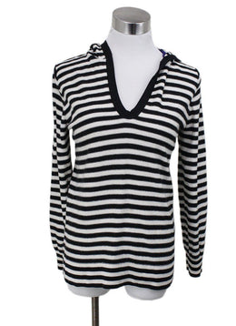Sonia Rykiel Black White Wool Sweater Sz 6