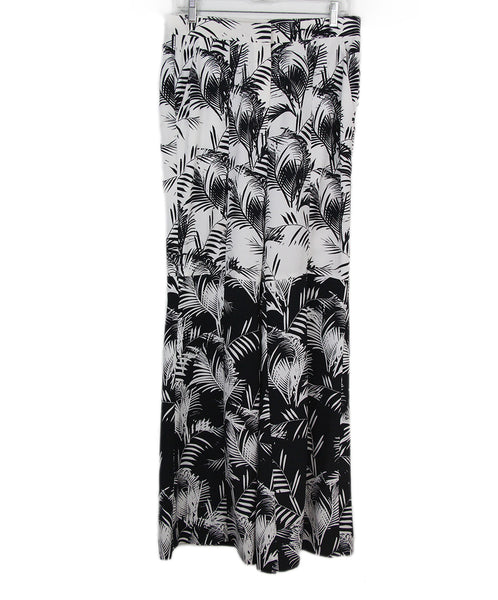 Sonia Rykiel white black print pants 1