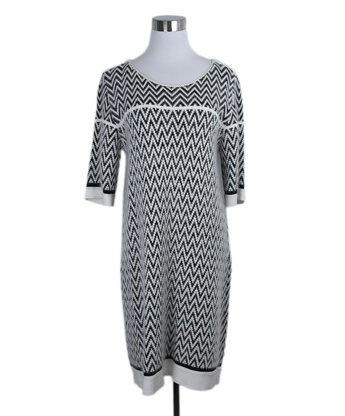 Sonia Rykiel White Charcoal Print Angora Polyamide Dress 1