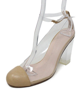 Spain Beige Clear Lucite Heels 1
