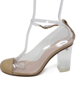 Spain Beige Clear Lucite Heels 2