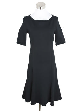 St. John Black Polyamide Spandex Dress 1