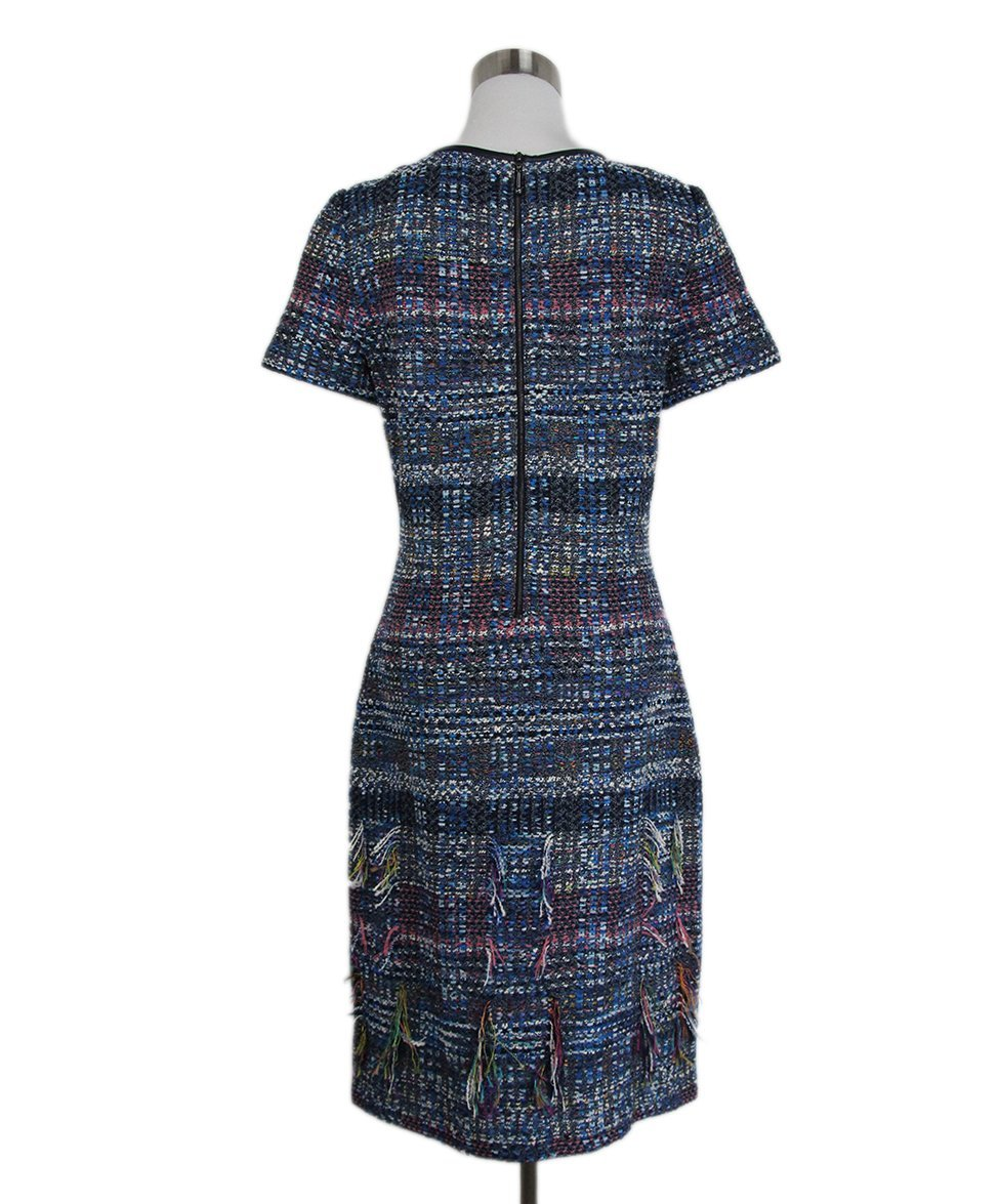 St. John Blue White Pink Tweed Dress 3