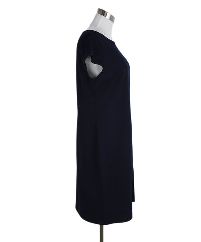St. John Blue Navy Knit Wool Dress 1