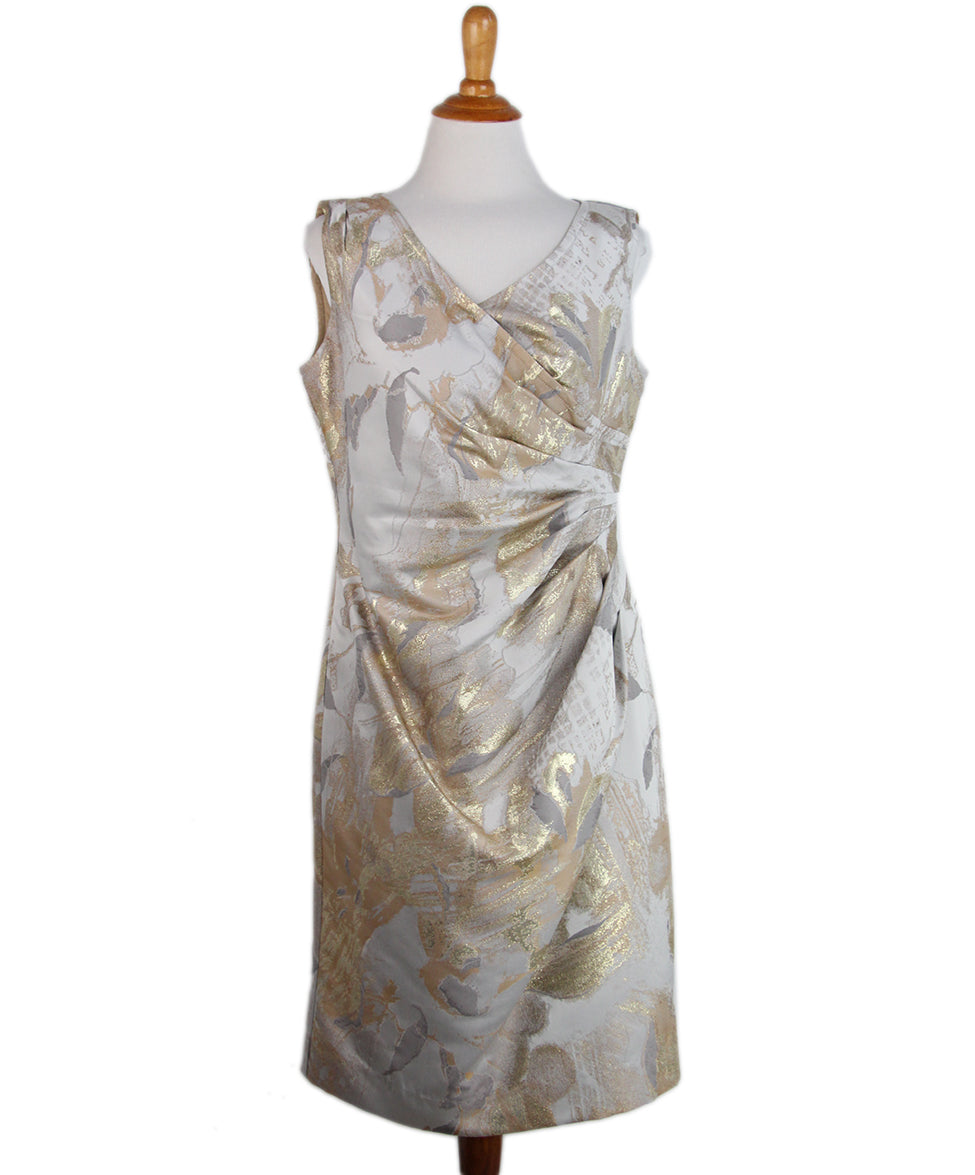 St. John Grey Gold Dress 1