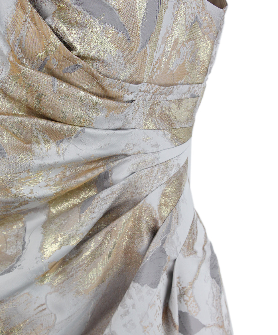 St. John Grey Gold Dress 5