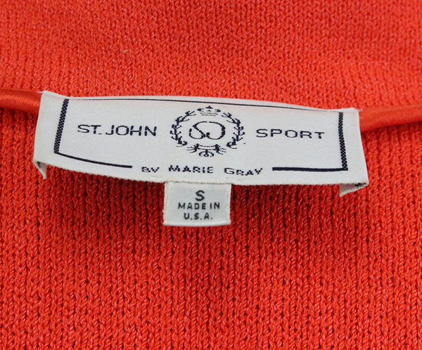 St. John Orange Knit Jacket 4