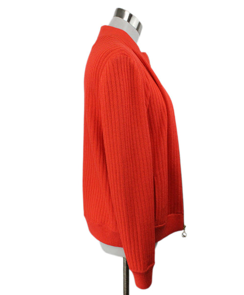 St. John Orange Knit Jacket 2