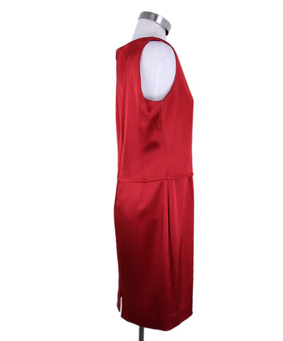 St. John Red Silk Black Dress 1