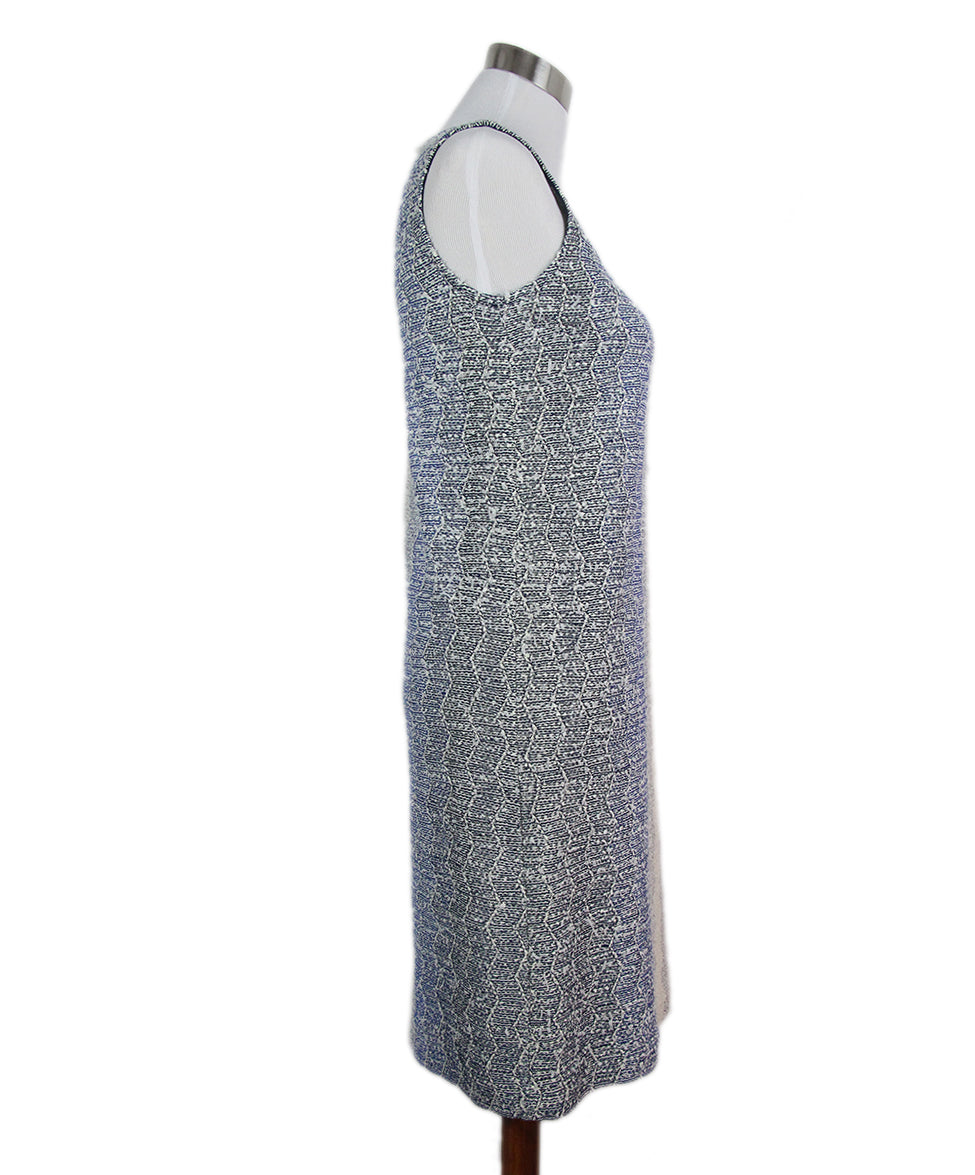 St. John blue white knit dress 2