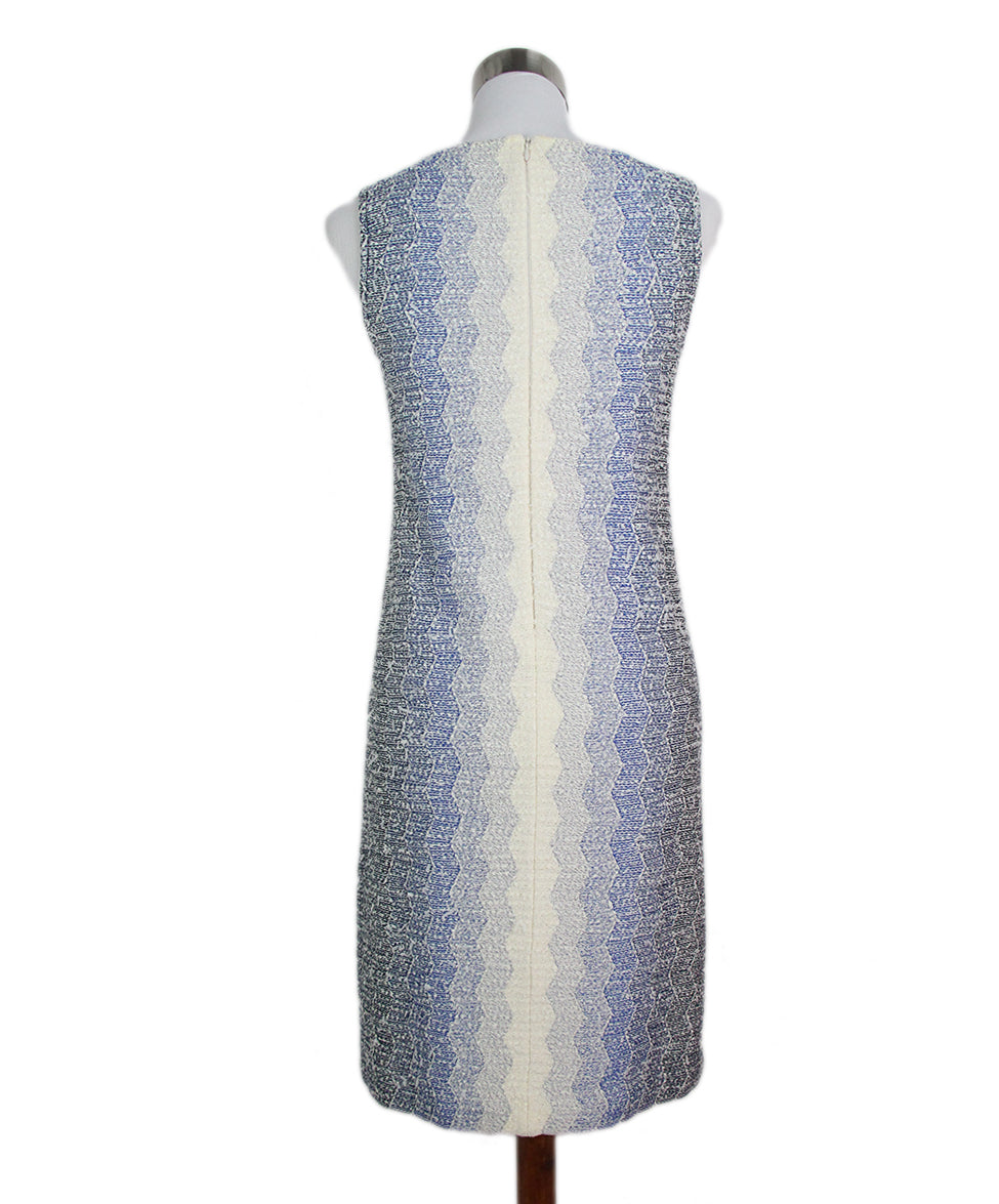 St. John blue white knit dress 3