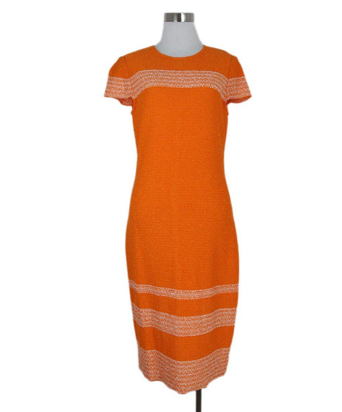 St. John orange dress 1