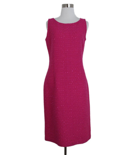 St. John pink wool dress 1