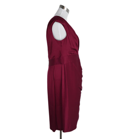 St. John Red Acetate Viscose Dress 1
