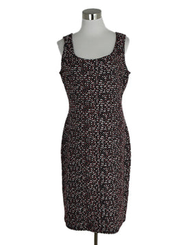St. John Red Black and White Tweed Dress sz. 10 | St. John
