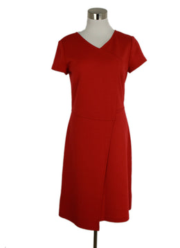 St. John Wool and Rayon Red Dress sz. 4 | St. John