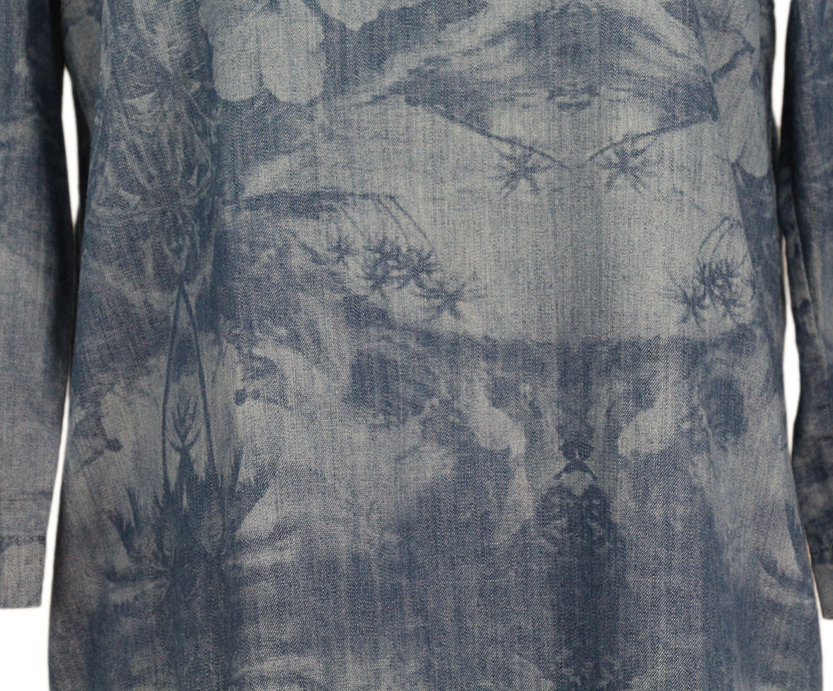 Stella McCartney Blue Denim Printed Long Slv Dress 5