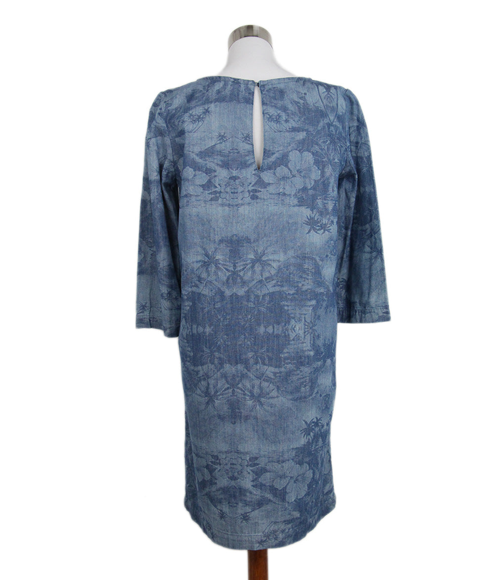 Stella McCartney Blue Denim Printed Long Slv Dress 3