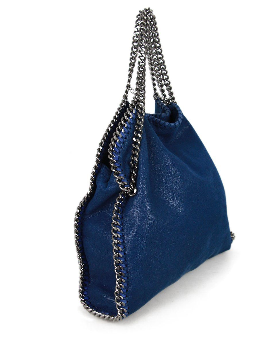 Stella McCartney Blue Silver Suede 2