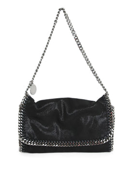 Stella McCartney Black Clutch with Silver Trim 1