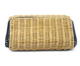 Stella McCartney Neutral Wicker Crossbody Bag with Black Chain Strap 5