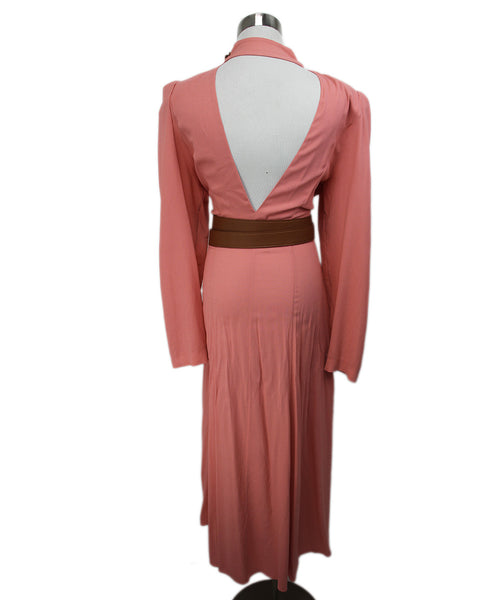Stella McCartney Pink Mauve Viscose W/Belt Dress 3