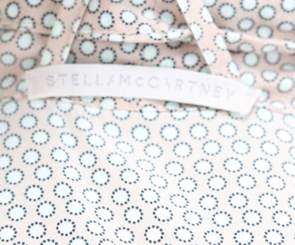 Robe Stella McCartney Pink White Print Silk W/Belt Lingerie 3