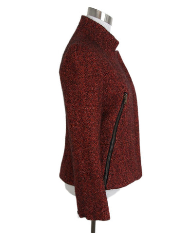 Stella McCartney Red Black Wool jacket 1
