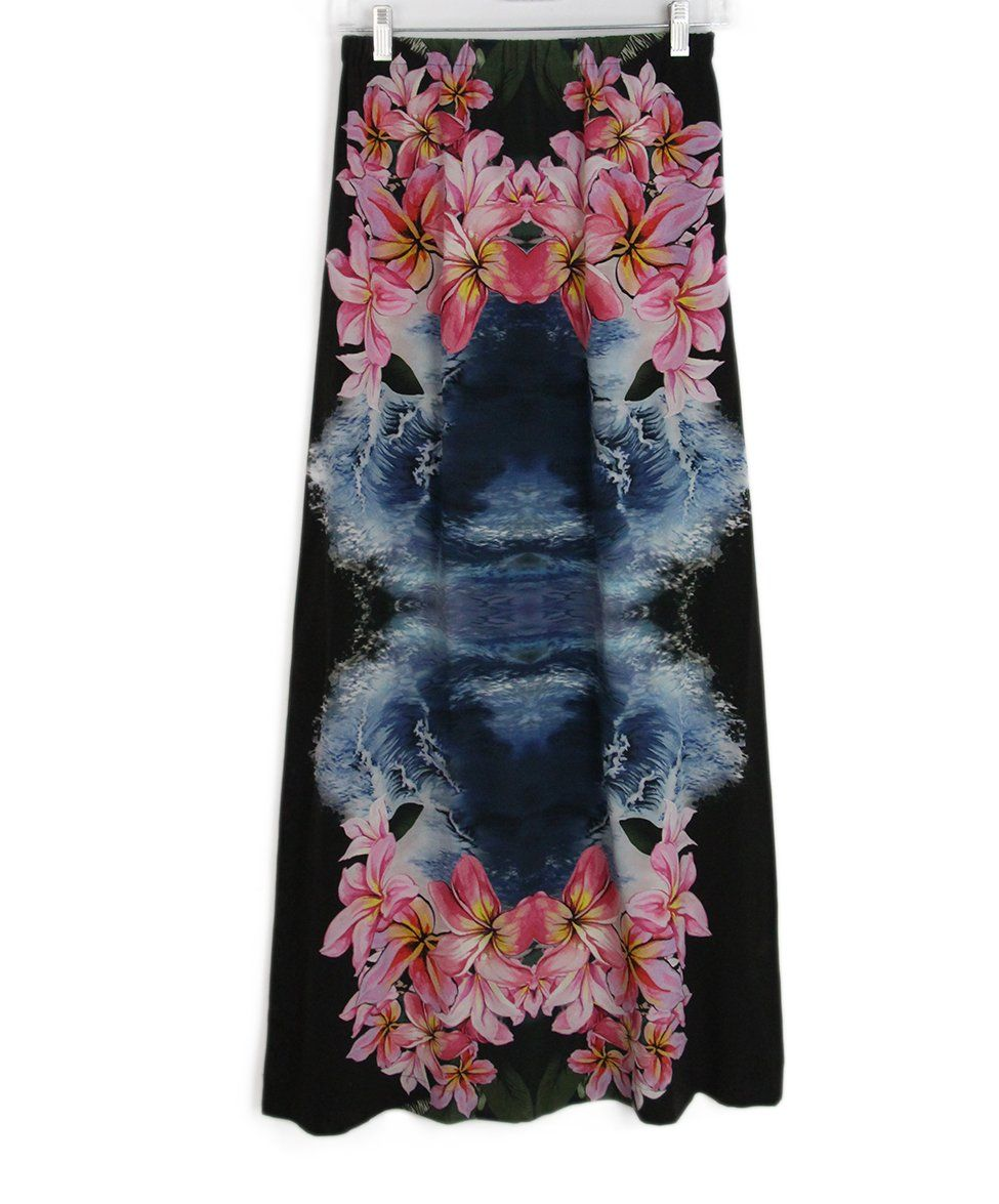 Stella McCartney black pink blue multi skirt 2
