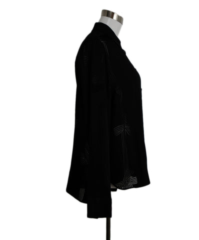 Stella McCartney Black Ranch Silk Blouse 1