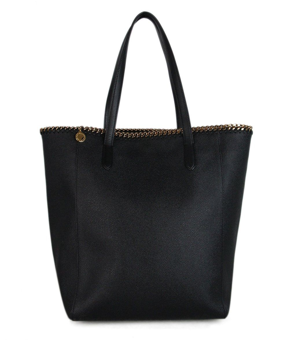 Stella McCartney black vegetarian material tote 1