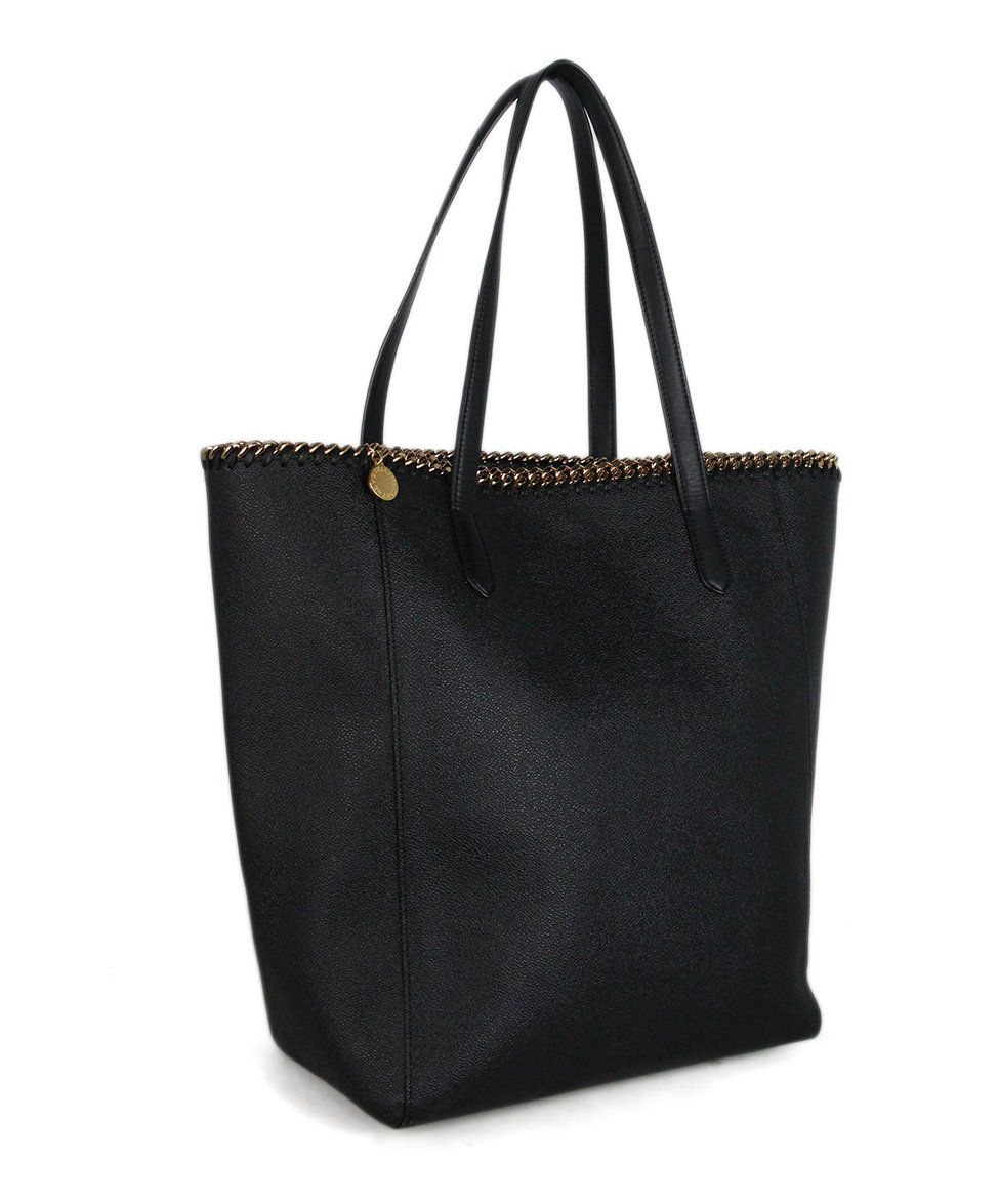 Stella McCartney black vegetarian material tote 2