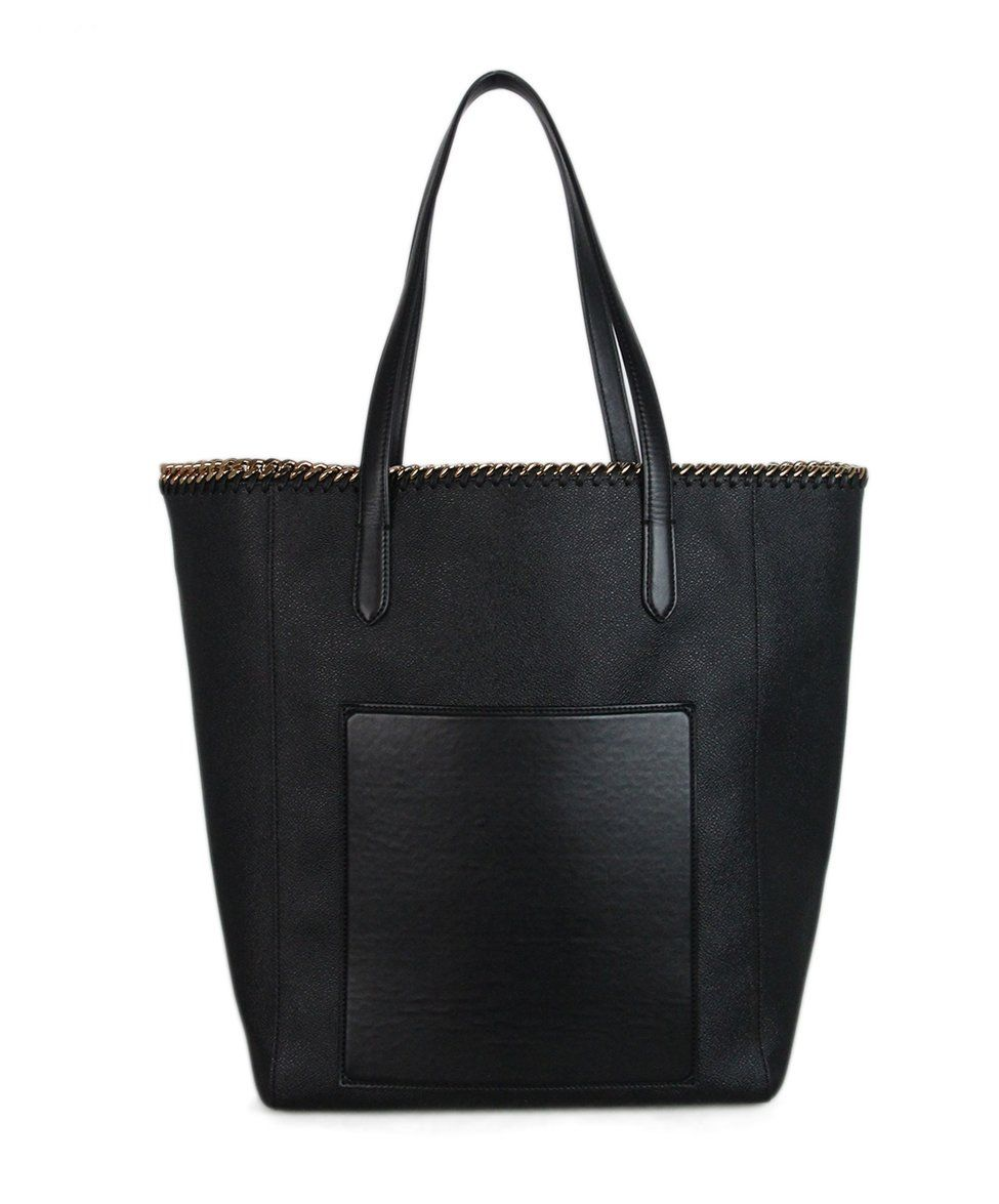 Stella McCartney black vegetarian material tote 3