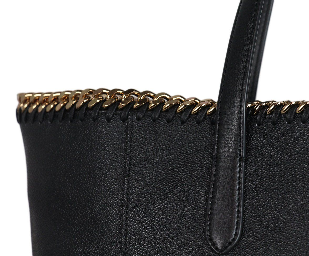 Stella McCartney black vegetarian material tote 9