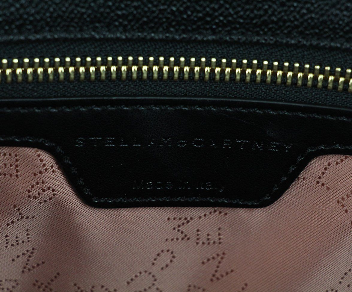 Stella McCartney black vegetarian material tote 7