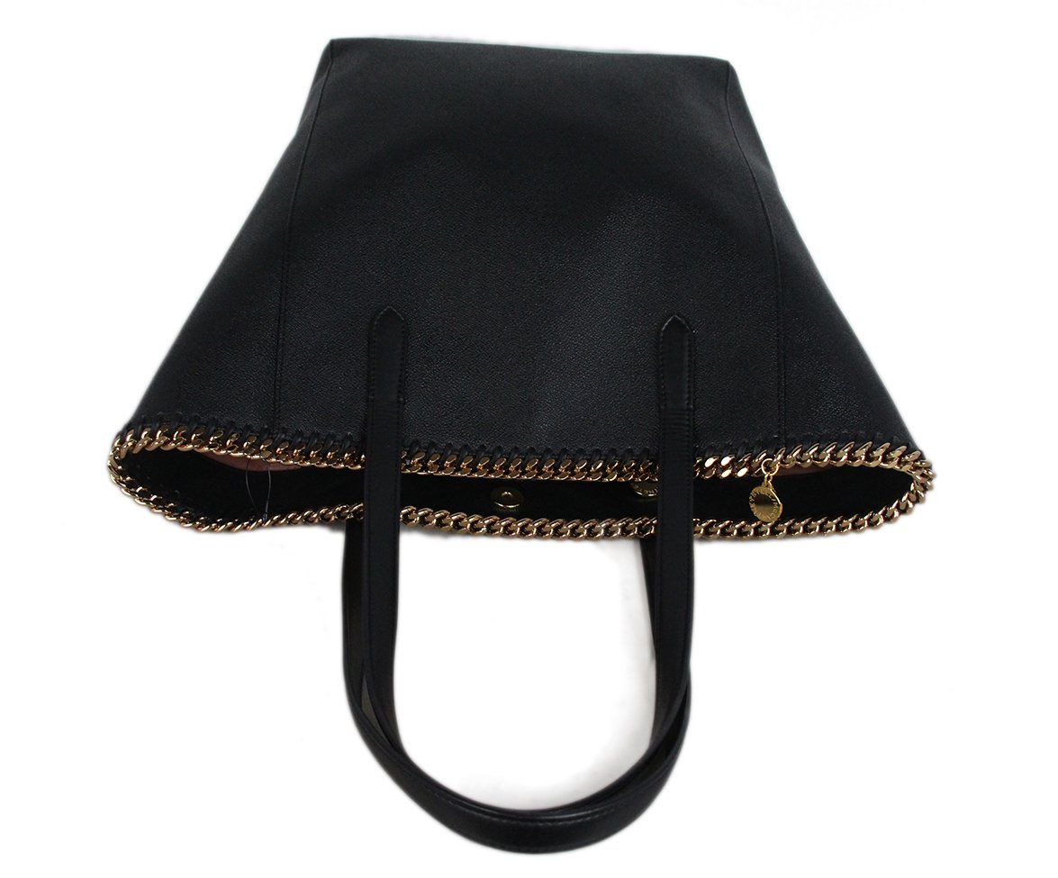 Stella McCartney black vegetarian material tote 5