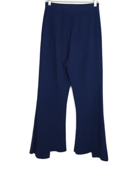 Stella McCartney Navy Rayon Polyester Pants 2