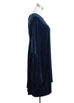 Stella McCartney Blue Velvet Longsleeve Dress 2