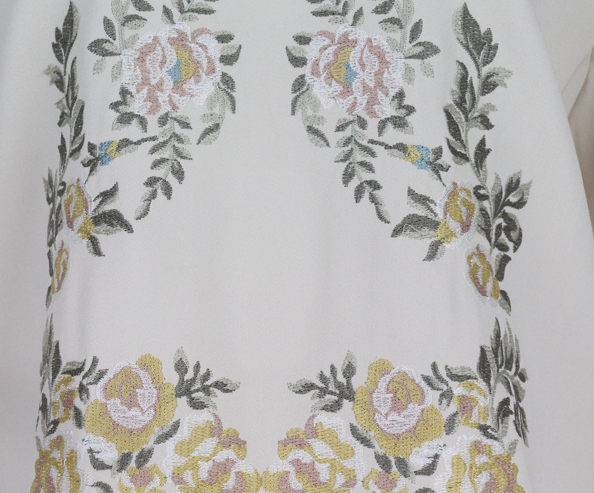 Stella McCartney Cream Floral Embroidery Viscose Top 5