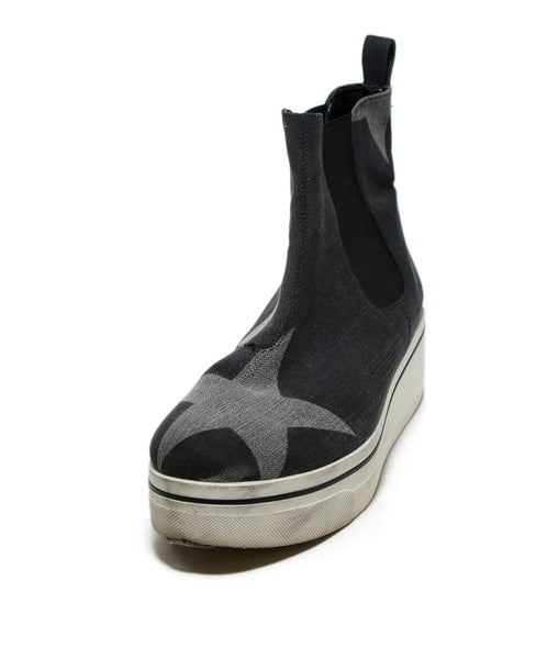 Stella McCartney Grey Denim stars Print Booties 1